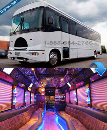 Gold Party Bus